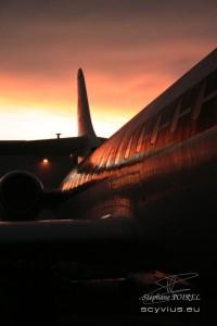 Photo caravelle fuselage au crespuscule