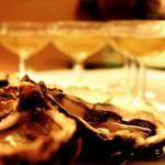 Photo d'huitres et de champagne