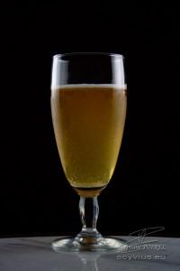Photo studio verre de bière