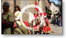 Reportage vidéo sur les fêtes médiévales du Grand Fauconnier à Cordes-sur-Ciel
