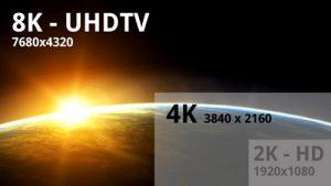 Format 4k 8k uhdtv et uhd