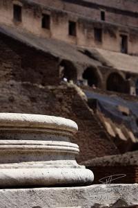 Photo détail du Colisée à Rome