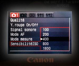 Sensibilité ISO/ASA en photo ou en vidéo