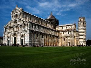 Photo cathédrale de Pise et la tour penchée