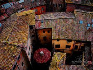 Photo de toits à Sienne