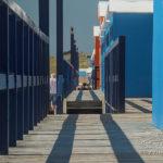 Photo des cabines en front de mer à St-Gilles