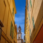 Photo façades colorées à Menton