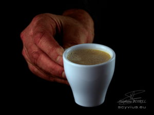 Photo en studio tasse de café