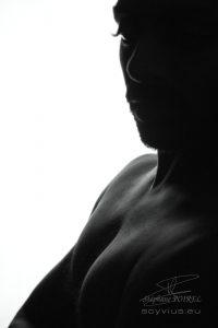 Photo de portrait en ombres chinoises