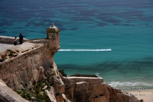 Photo d'un rempart de la citadelle d'Alicante