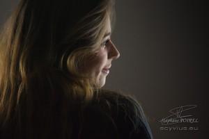 Photo portrait de dos Pauline