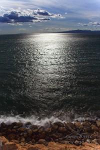 Photo soleil couchant à Salou