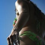 Photo de nu avec reflets