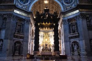 Photo intérieur de la Basilique Saint-Pierre à Rome