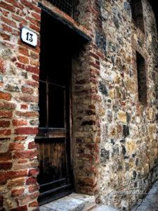 Photo porte à San Gimignano