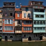 Photo des vieilles façades sur l'Agout à Castres