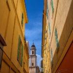 Photo façades colorées à Menton