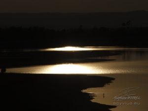 Photo crépuscule au lac de Saint Ferreol