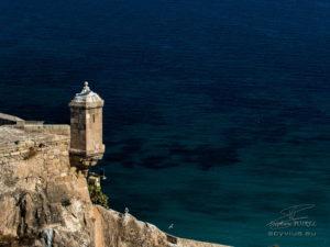 photo tourelle de la citadelle d'Alicante