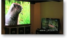 Clip vidéo panneaux LED intérieur